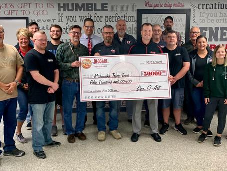 Dec-O-Art Makes $50,000 Donation to MTT