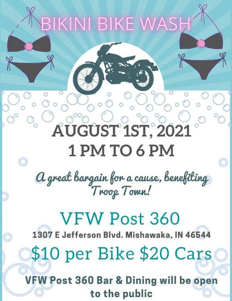 Join us this August 1st for our First Bike Wash