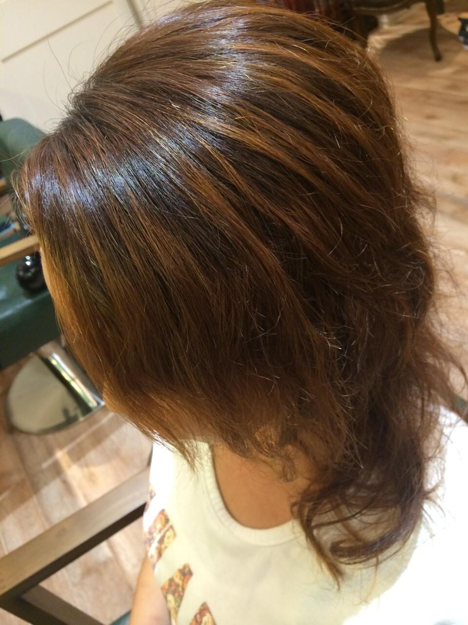 矯正毛へのパーマ