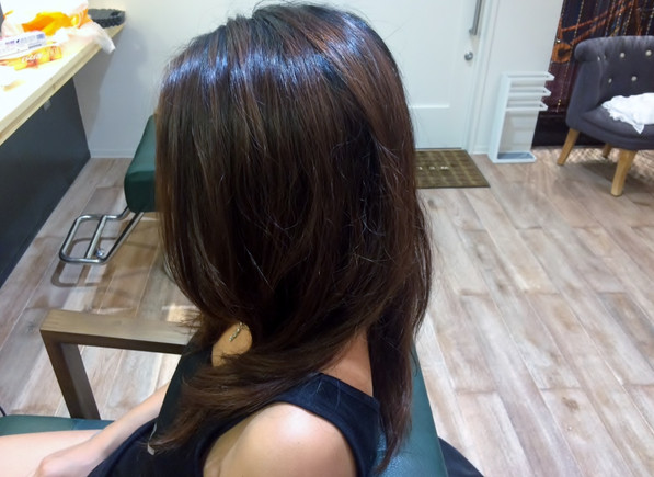 オーガニックパーマはやはりかければかけるたびに美髪になっていきます