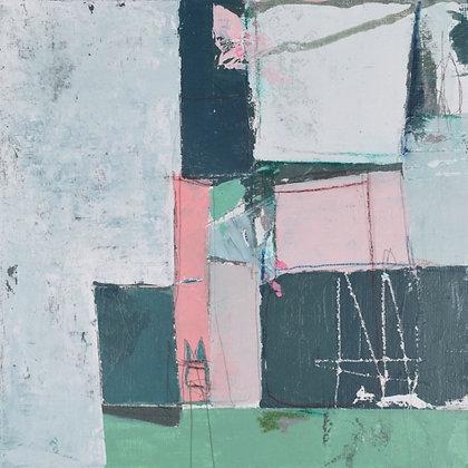 """'Inner landscape 1' 8x8"""" framed"""