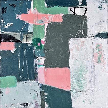 """'Inner landscape 2' 8x8"""" framed"""