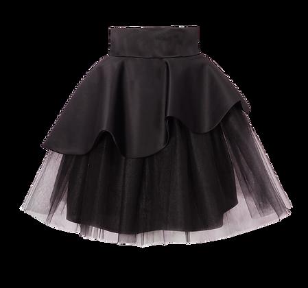 Layered Black Tutu Skirt