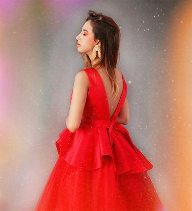 Hot Red Princess Dress