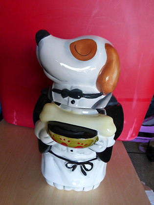 CERAMIC WAITER TREAT OR COOKIE JAR