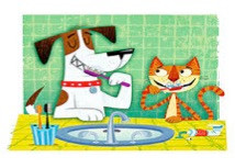 TIME TO SHINE THOSE PEARLY WHITES!   FEBUARY IS NATIONAL PET DENTAL MONTH!