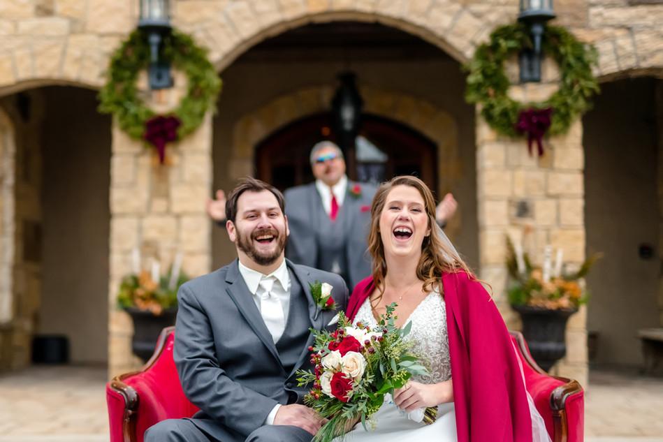 Wedding Couple Seated
