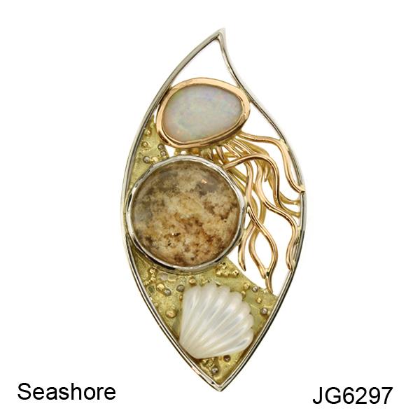 Joanne Gowan. Seashore Brooch. JG6297A