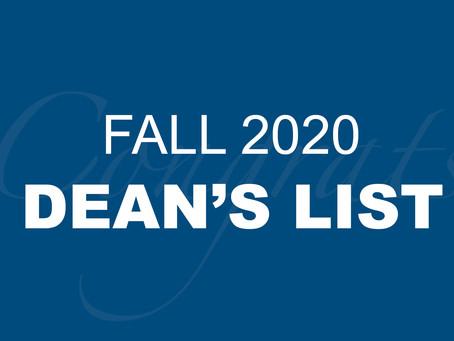 Fall 2020 Dean's List
