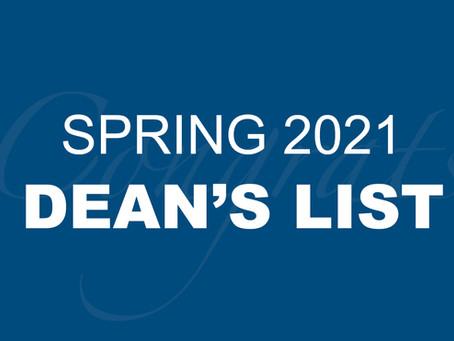 Spring 2021 Dean's List