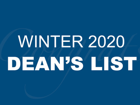 Winter 2020 Dean's List