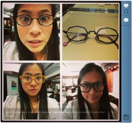 According to the opticians, there really are frames for everybody here. All different kinds for all different tastes.
