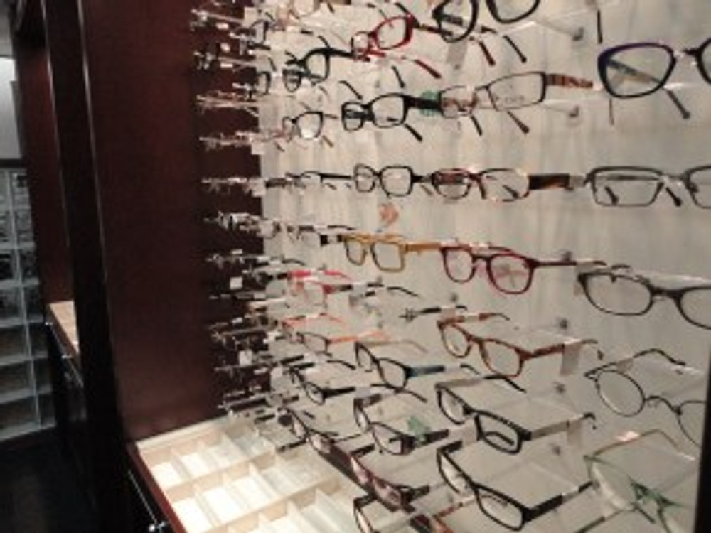 The pricey rack of frames