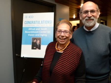 Alfred and Sarah Rosenbloom Center on Vision and Aging Celebrates Anniversary