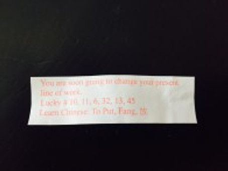 Fortune Cookies Know Best