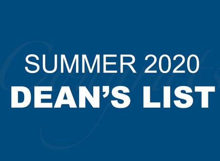 Summer 2020 Dean's List