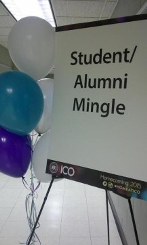 student alumni mingle sign