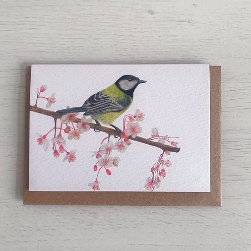 Great Tit A6 Greeting Card