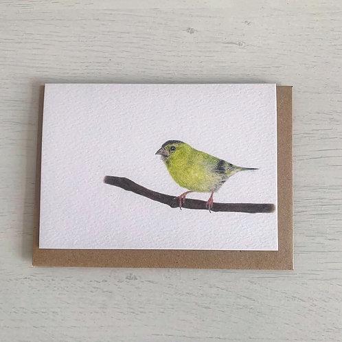 Siskin A6 Greeting Card