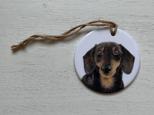 Dachshund Ceramic Ornament