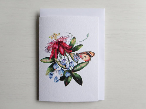 Passion Flower A6 Card