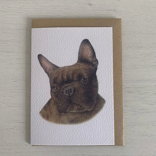 French Bulldog A6 Greeting Card