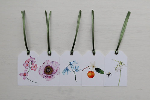 Wild Flowers Pack of 5 Gift Tags