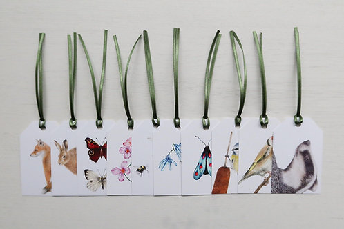 British Wildlife Pack of 10 Gift Tags