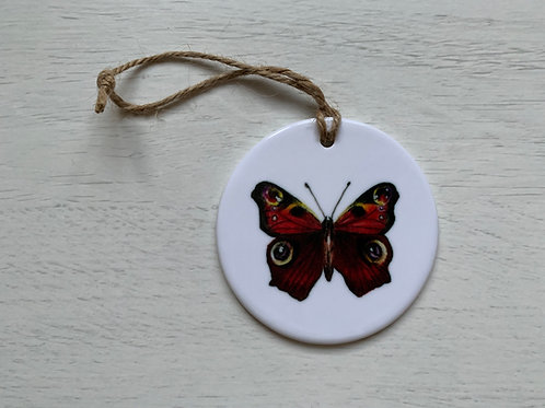 British Butterfly Ceramic Ornament