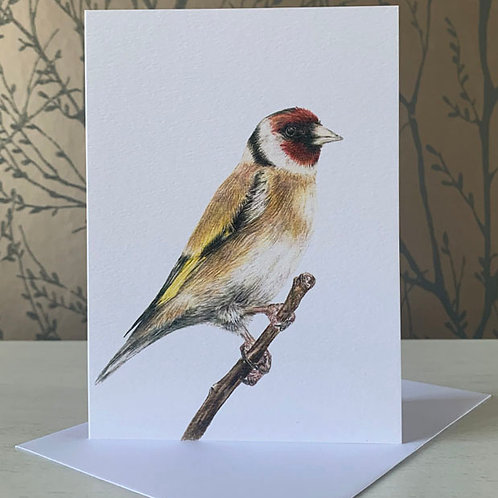"""Goldfinch 5"""" X 7"""" Greeting Card"""