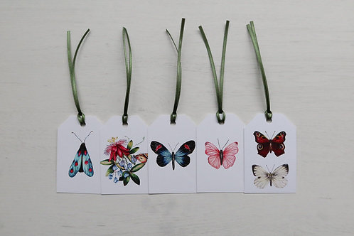 Butterflies Pack of 5 Gift Tags