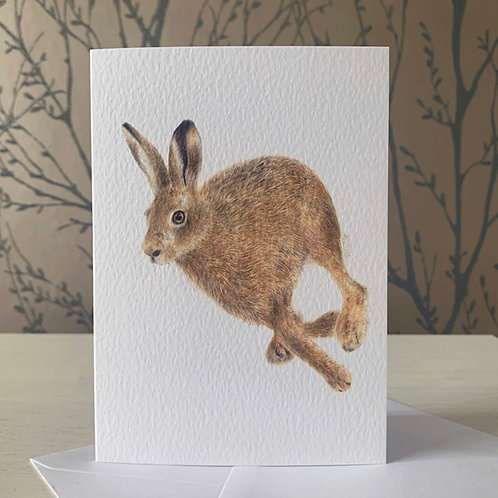 Running Hare A6 Greeting Card