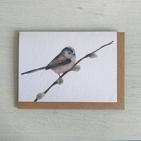 Long Tailed Tit A6 Greeting Card