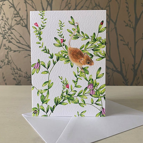 Woodland Mouse A6 Greeting Card