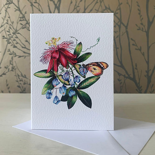 Passion Flower A6 Greeting Card