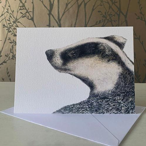 "Badger 5"" X 7"" Greeting Card"