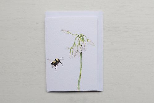 Bumble Bee & Wild Garlic A6 Card