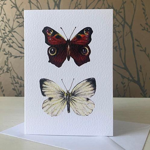 British Butterflies A6 Greeting Card