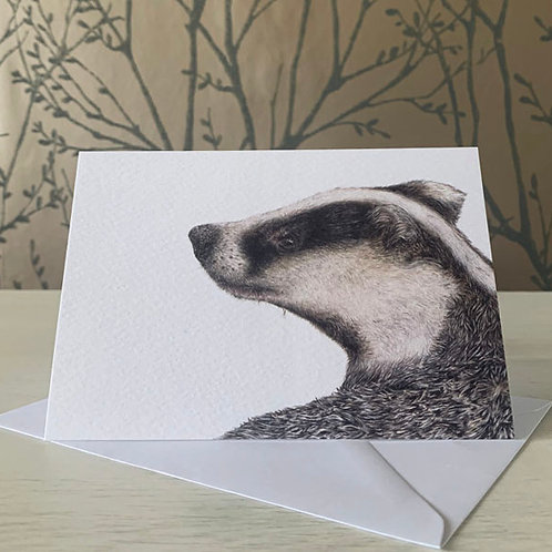 Badger A6 Greeting Card