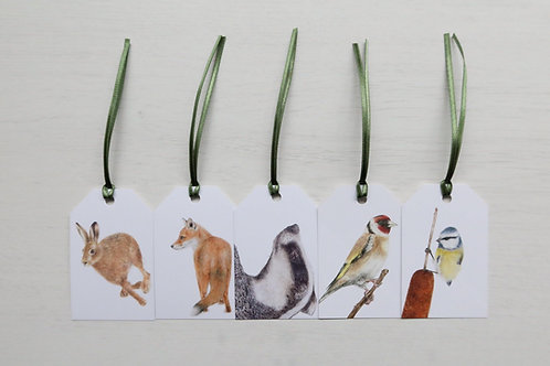 Woodland Pack of 5 Gift Tags