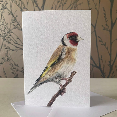 Goldfinch A6 Greeting Card