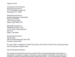 """MormonTips Files Federal, State and Local Complaints Against Mormon Church and its """"Hawaii Triad"""" of"""