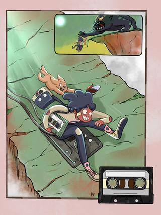 Casette Comic Page