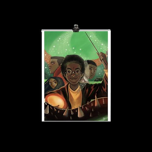 Black Hogwarts Poster