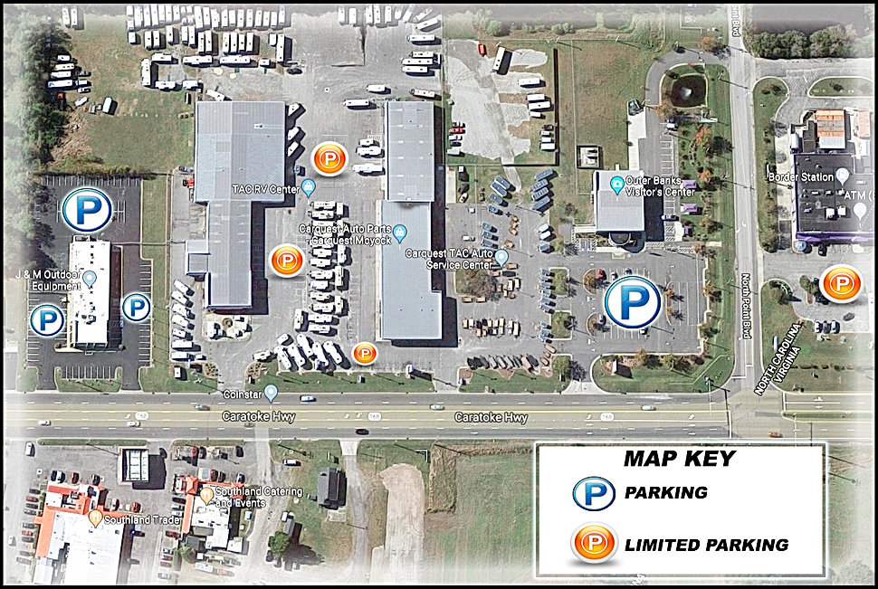 Great Atlantic RV Show Parking Map