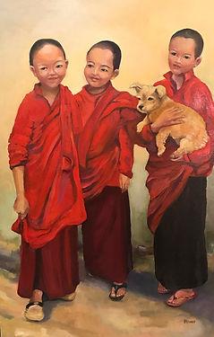 Bhutanese Nuns with Furry Friend.jpg