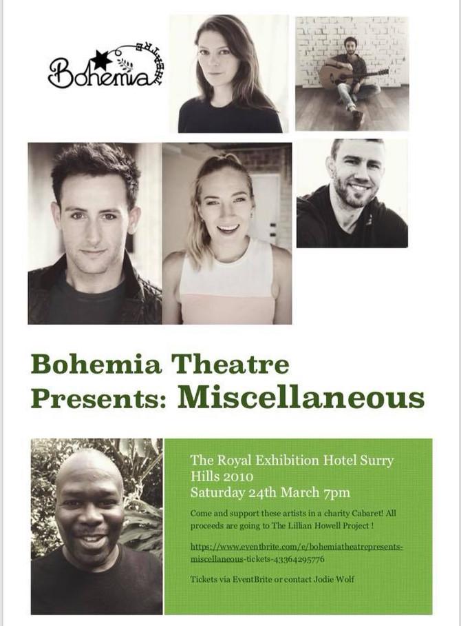 Bohemia Theatre presents Cabaret Miscellaneous