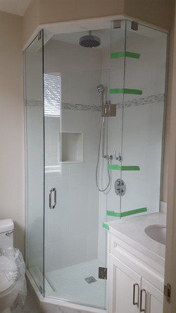 SEMI CORNER SHOWER ENCLOSURE