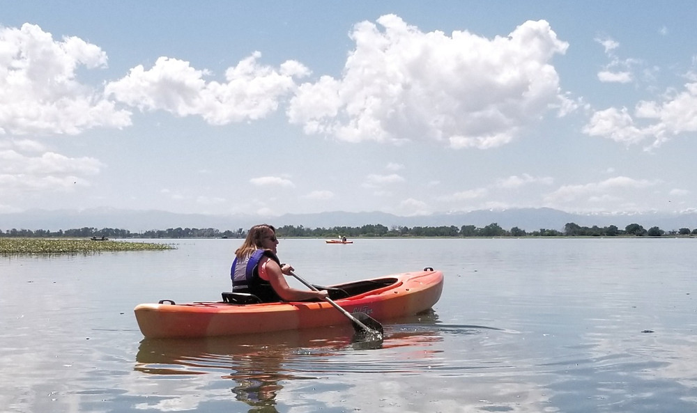 SOLE Teacher Flora kayaking for the first time!