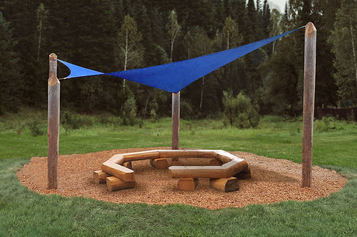 Shade Sail and Teaching Circle
